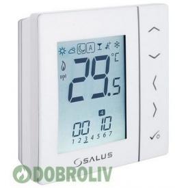 Безпровідний кімнатний термостат SALUS з цифровою індикацією 4 в 1, 230V, білий VS20WRF