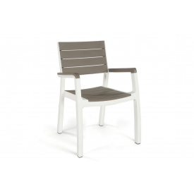 Стул пластиковый Keter Harmony armchair бело-бежевый