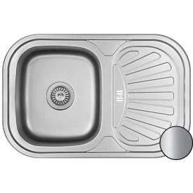 Кухонная мойка Galati Stela нержавеющая сталь 75х49х18 см Satin