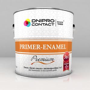 Емаль Дніпро-Контакт Грунт-емаль 3 в 1 2,8 кг вишнева