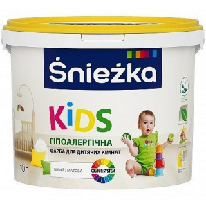 Гіпоалергічна фарба KIDS для дитячих кімнат 4 кг біла