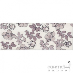 Плитка настінна декор Kerama Marazzi Ньюпорт Квіти фіолетовий STGC18215010