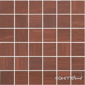 Плитка для підлоги, під мозаїку 300х300 Marconi CASTYLIA MAHOŃ MOZAIKA C (коричнева, під дерево)