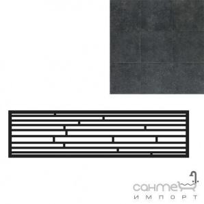 Керамограніт з нерівною кромкою мозаїка-фриз REх PIETRA DEL NORD NERO NATURALE MURETTO 20х80 736274