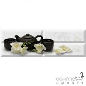 Плитка керамічна декор ABSOLUT KERAMIKA Serie Japan Tea 04 Composition