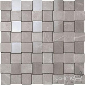 Плитка з білої глини мозаїка Atlas Concorde Marvel Grey Fleury Net Mosaic 9MVP