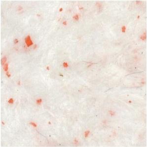 Рідкі шпалери Qстандарт Гортензія 205 білий шовк білий з помаранчевими пластівцями 1 кг