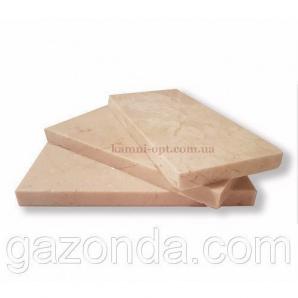 Мармурова плитка Crema Nova 1,2х7,5х15 см світло-бежева