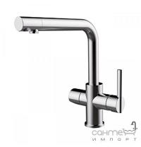 Змішувач для кухні з виливом для фільтрованої води GRB Kasvi 51 831 510 хром