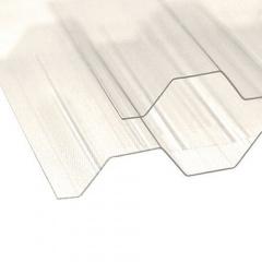 Профільований полікарбонат ТМ Borex 1,05 м 4,0 м 0,8 мм прозорий Київ