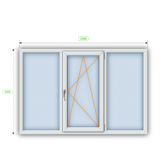 Металлопластиковое окно Steko R600 2100х1400 мм Киев