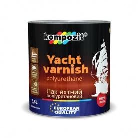 Лак яхтный KOMPOZIT полиуретановый шелковисто матовый 2,5 л