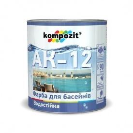 Краска для бассейнов KOMPOZIT АК-12 голубая 2,8 кг