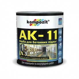 Краска для бетонных полов KOMPOZIT АК-11 белая 10 кг