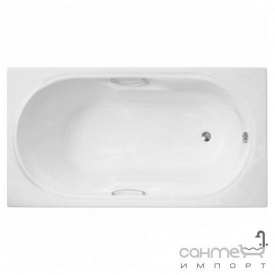 Прямоугольная ванна Polimat Lux 140x75 00340 белая