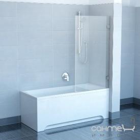 Шторка для ванны Ravak CVS1-800 R белый прозрачное правая