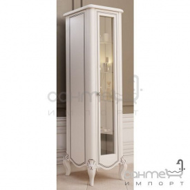 Пенал підлоговий Marsan Melissa білий декор хром фурнітура хром