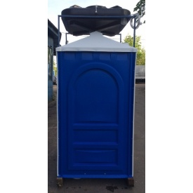 Душевая кабина для дачи 2,65х1,15х1,15 м синяя