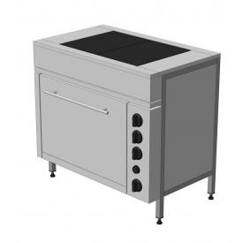 Плита електрическая бюджетная ЭПК-2ШБ стандарт 900x550x850 мм