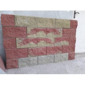 Блок колотый декоративный 390х190х140 мм