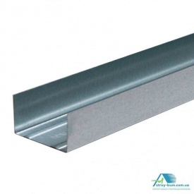 Профиль для гипсокартона Интерпрофиль UW 100x40 3 м 0.45 мм