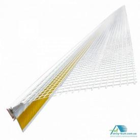 Профиль оконный с сеткой ПВХ 6x9 мм 145 плотность 2.5 м белый