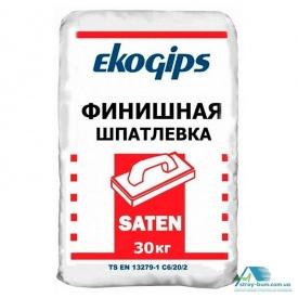 Шпаклівка фінішна гіпсова Ekogips Saten 30 кг