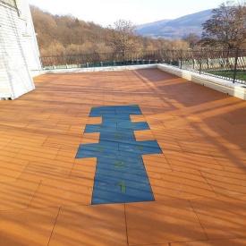 Укладка резиновой плитки на террасу