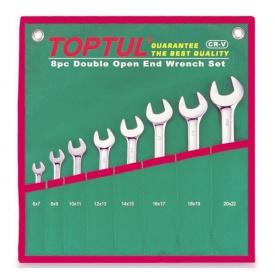 Набор рожковых ключей TOPTUL 6-22 мм 8 шт GAAA0812