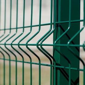 Секція огорожі Паркан 3D 2500х1530 мм 3х4 мм зелена