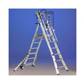 Двусторонняя телескопическая лестница-помост SVELT TELEFLY 5 ступеней