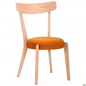 Стул обеденный AMF Пекорино бук беленый/оранж