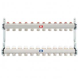 Коллектор для теплого пола Itap 1x3/4 на 12 выходов без расходомеров