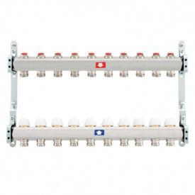 Коллектор для теплого пола Itap 1x3/4 на 10 выходов без расходомеров