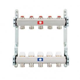 Коллектор для теплого пола Itap 1x3/4 на 5 выходов без расходомеров