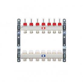 Коллектор для теплого пола Itap 1x3/4 на 7 выходов с расходомерами