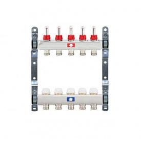 Коллектор для теплого пола Itap 1x3/4 на 5 выходов с расходомерами
