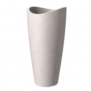 Кашпо для цветов Scheurich Wave Globe Slim пластик 80 гранитно-коричневый