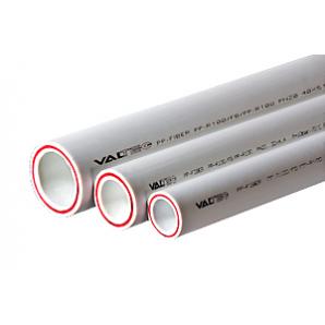 Труба поліпропіленова VALTEC армована скловолокном PP-FIBER PN 20 50 мм білий VTp.700.FB20.50