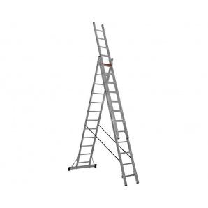 Трисекційна алюмінієва драбина Triomax Pro VIRASTAR 3x12 сходинок