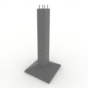 Фундамент під металеві опори ЛЕП Ф2-2
