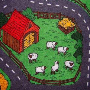 Побутовий ковролін Ideal Farm 158