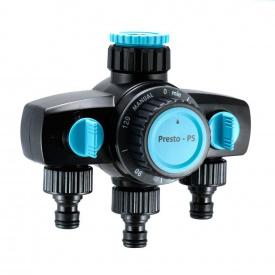 Таймер полива Presto-PS механический на 3 выхода до 120 минут (7736)