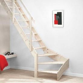 Деревянная лестница DOLLE Normandie забежные