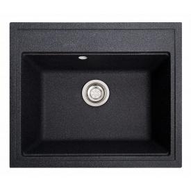 Кухонная мойка гранитная FENIX ГРОСС черная