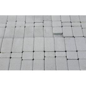 Тротуарная плитка Старый город 4 см белая
