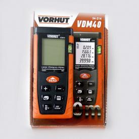 Лазерная рулетка дальномер VORHUT VDM-40 0,05-40 м +/- 2 мм