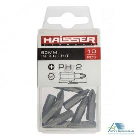 Бита РН2х50 мм Haisser 10 шт в уп 81308