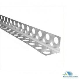 Куточок Галич Профіль перфорований алюмінієвий 2,5 м 0,4 мм ширина 60 мм