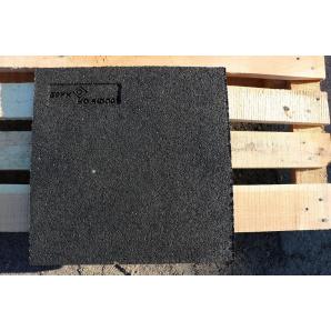 Резиновая плитка 30х400х400 мм черная